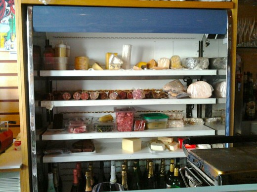 An amazing selection of meats and cheeses at 694 wine bar.