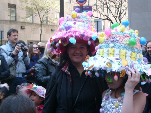 Bonnets made from marshmallow bunnies and multi-colored Cheerios -- Awesome!