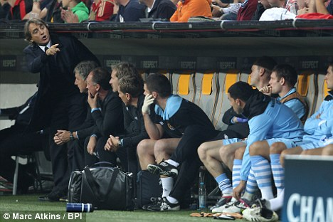 Tevez refusing to come on as a sub
