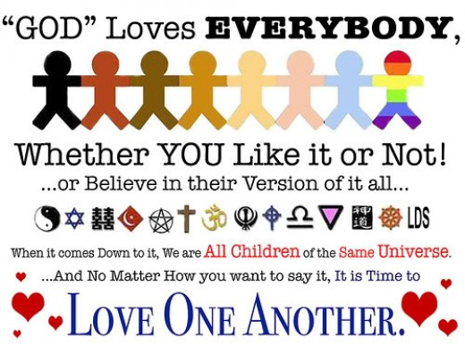 Whether you like it or not, God loves you!