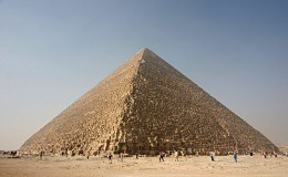 This is the Great Pyramid of Giza. No seriously. I'm not even joking this time! There is actually a fact on this page! I'm not sure I approve...I feel light headed...