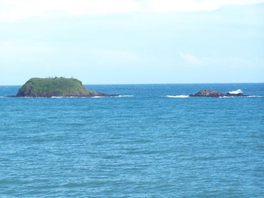 Islands in the sea off Fort Granby, Tobago