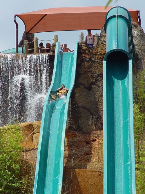 Geyser falls in Mississippi