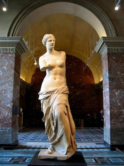 "Statue: ""Venus de Milo"". One of the most famous works of Ancient Greece."
