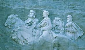 Jefferson David, Robert E. Lee, and Stonewall Jackson on Stone Mountain