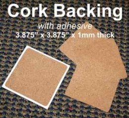 You can add a cork backing to the entire back of your coaster. These pads are available on Ebay.