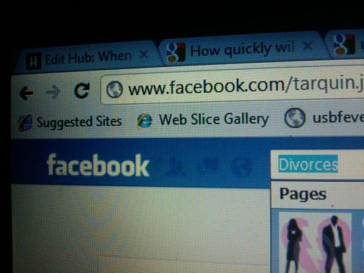Facebook divorces