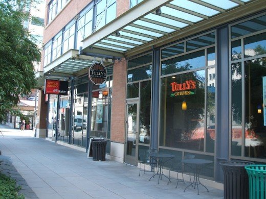 Tully's Coffee at the International District, Seattle, Washington