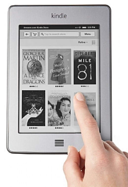 Kindle Touch - 2013 Top 10 Ultimate Birthday Gifts for Men, by Rosie2010