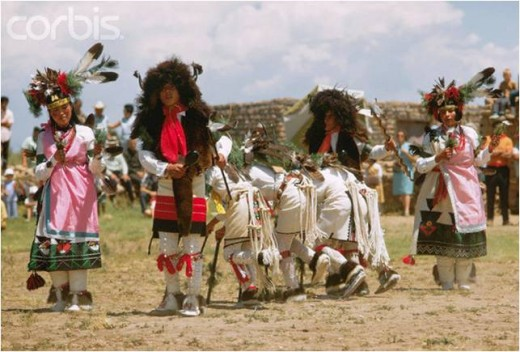 Traditional Pueblo dancers