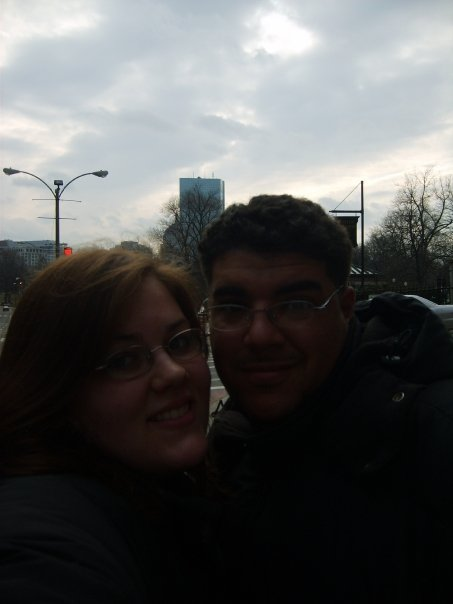 Taken at the end of our day trip. We were very happy but in the middle of the street.