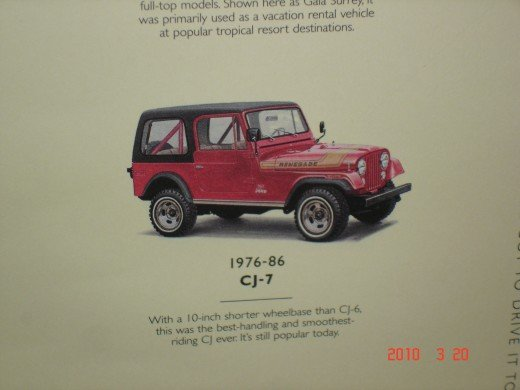 the 1976 Jeep CJ-7 was made until 1986