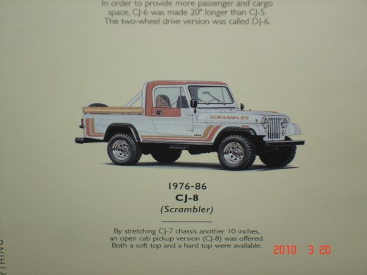 the 1976 Jeep CJ-8 was made until 1986