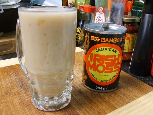 Jamaican Irish Moss drink in can & over ice