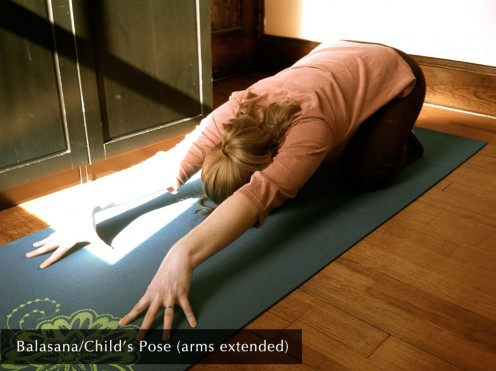 Balasana/Child's Pose (arms extended)
