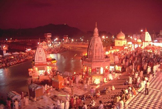 Evening view of Har-ki-Pauri, Haridwar