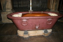 It does not have to be an Ancient Roman bathtub.  Any bathtub will do.