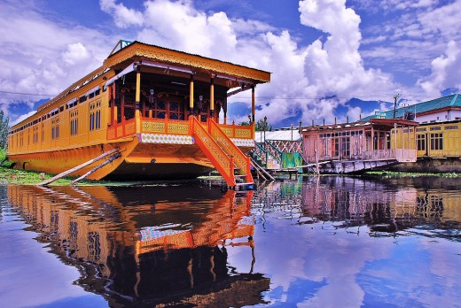 A beautiful Houseboat on Dal Lake