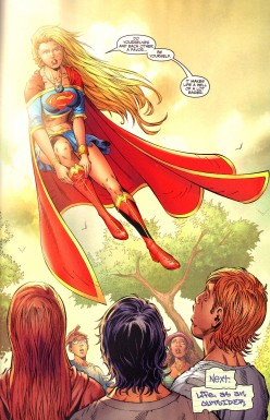 SUPERGIRL IS ALWAYS HERSELF NO MATTER WHAT THE SITUATION. YOU GOTTA LOVE THAT SUPERGIRL!