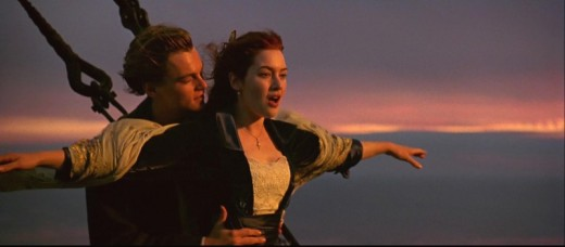 Leonardo DiCaprio and Kate Winslet in Titanic (1997)