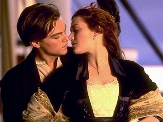 Leo and Kate in Titanic (1997)