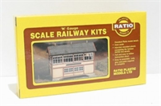 And an 'N' scale GWR signal box kit. Most products are available in all three scales. Ratio also does a signal box that passes for LNER when painted suitably