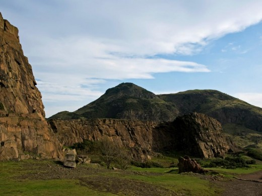 Salibury Crags and Arthur's Seat Summit