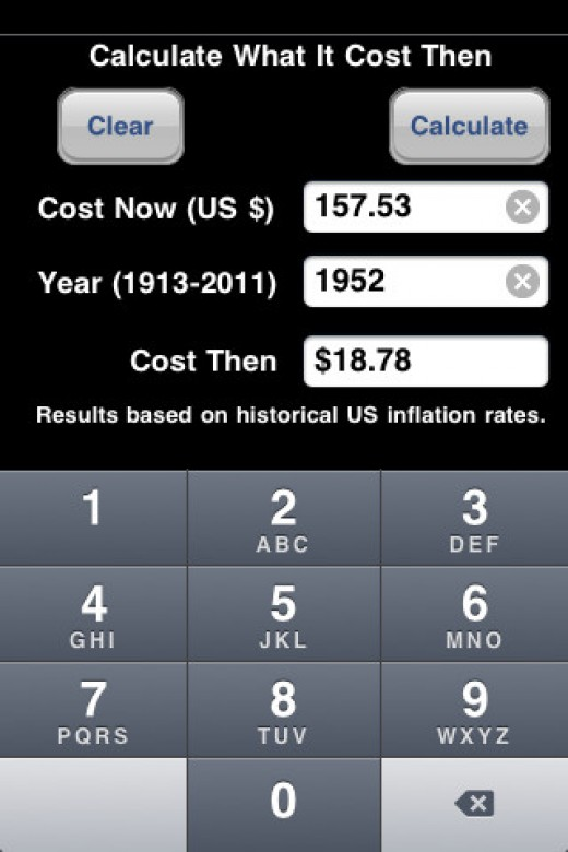 Calculate How Much It Cost In History