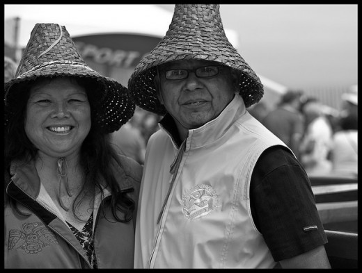 Kwantlen First Nations Chief Marilyn Gabriel and her husband