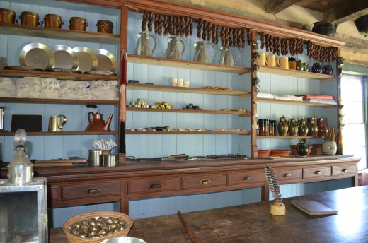 Picture of inside the old general store.