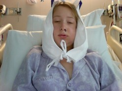 This was me, one day after surgery.