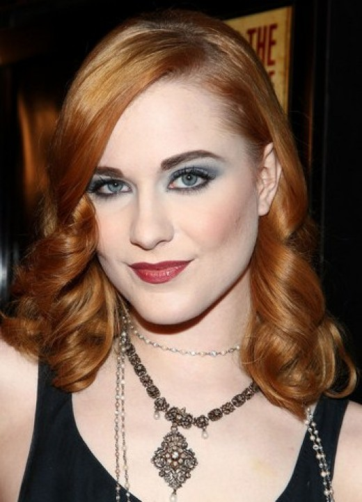 Evan Rachel Wood with her blue eyes in smokey eye makeup