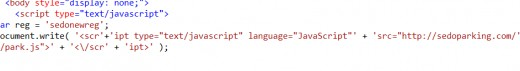 the website inside the scripting language