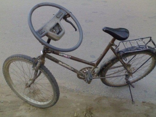 Bicycle with steering