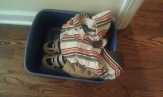 the clothes bucket