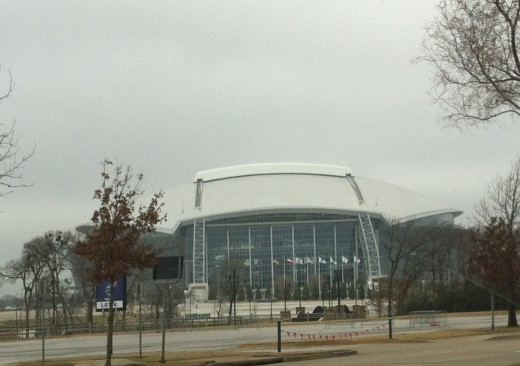 Cowboys Stadium from E Randol Mill Road.