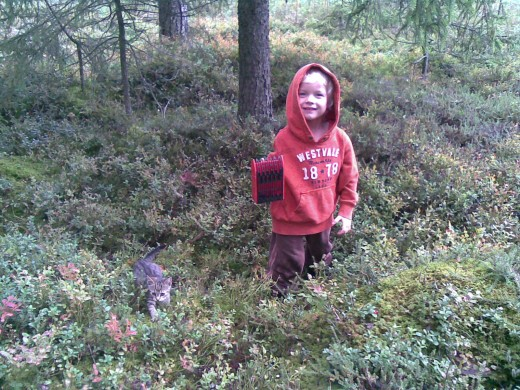 Exercise or go out in the woods and pick some berries with your family. Anything that makes your body move, is good for your body. In this picture: My daughter and our kitten Dipsy picking lingonberries just outside our home in fall 2011.