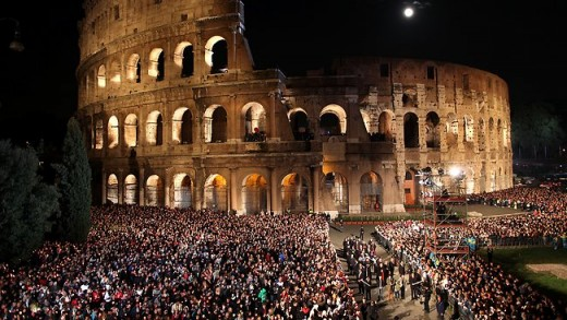 The Pope at the Colosseum on Good Friday