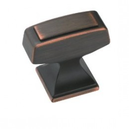 These oil rubbed bronze knobs would work well in almost any kitchen setting from vintage to contemporary.