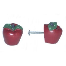 These apples are too cute.  Theya re perfect for the contemporary country kitchen..plenty of kitsch.