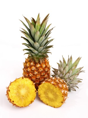 Pineapples contain bromelain which helps in digestion of protein.