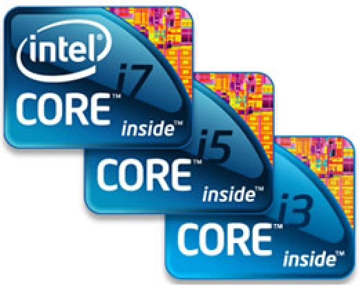 the latest from the Intel family are the 'three musketeers i3, i5 and i7.