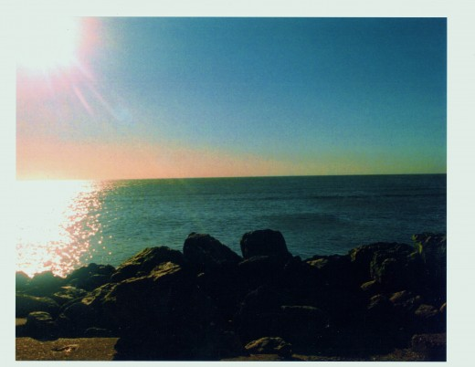 View from Galveston Seawall.