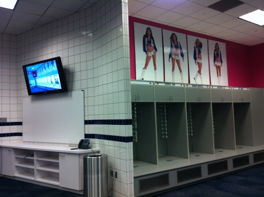 Inside the Dallas Cowboys Cheerleaders dressing room