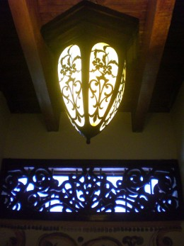 Window and lamp at Hotel Boutique San Jose, Pereira, Colombia