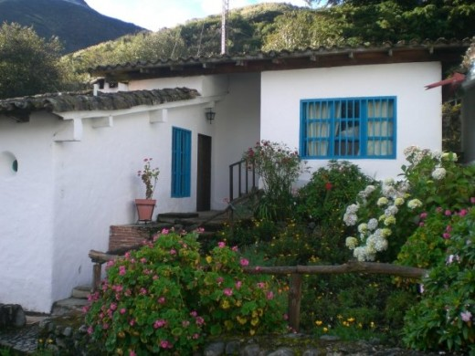 Blue window in cottage in Los Frailes, Venezuela