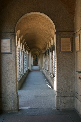 Inside the Rosary Portico