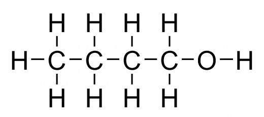 The structure of a Butanol molecule.