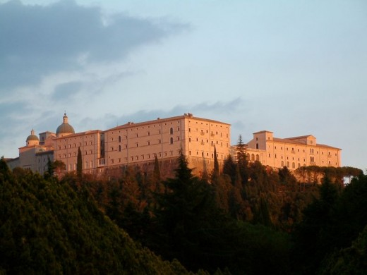 Beautiful Monte Cassino monastery in Italy as it looks today.