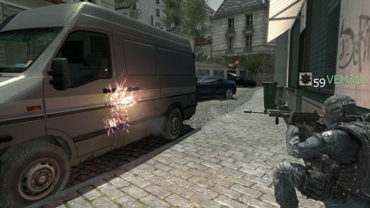 van door: NO PENETRATION ~ realistic (although bullet should enter the vehicle, it would not exit the other side)